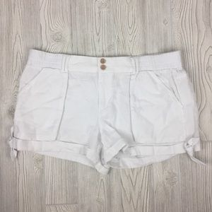 Rewind White Tailored Cotton Short Sz XL